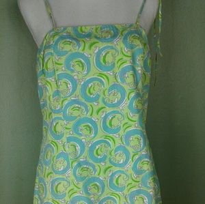 Lilly Pulitzer Green Lizzard Summer Dress Sz 12